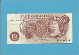 GREAT BRITAIN - 10 SHILLINGS - ND ( 1966-70 ) - P 373 C - BANK OF ENGLAND - 1952-… : Elizabeth II