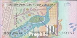 Macédoine Pick-no: 14c Bankfrisch 2001 10 Denari - Macedonia