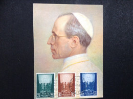 1943 Vatican Pope Pius 12 Postcard Cancelled Cover - Vatican