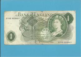 GREAT BRITAIN - 1 POUND - ND ( 1970-77 ) - P 374 G - BANK OF ENGLAND - 1952-… : Elizabeth II