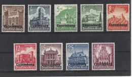 Germany 1941  (Luxemburg) (**) Mi.33-41 - Occupation 1938-45