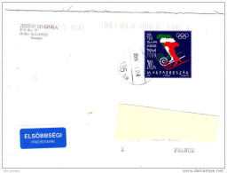 [K] Lettre Hongrie Hungary Carte Map Italie Italy Jeux Olympiques Olympica Torino 2006 - Winter 2006: Torino