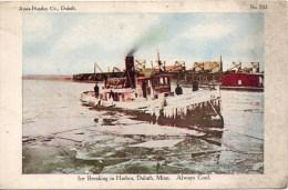 Ice Breaking In Harbor - Duluth