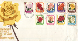(669) New Zealand FDC Cover - 1975 - Flowers - FDC