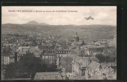 CPA Clermont-Ferrand, Grand Prix Michelin, Renaux Au Dessus, Un Avion über Dem Ort - Clermont Ferrand