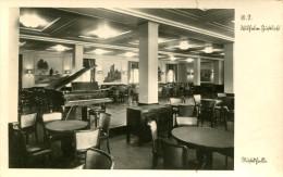 AK K.d.F. Schiff M.S. Wilhelm Gustloff Ca. 1938 Musikhalle - KdF MS Schiff Dampfer Ship Steamer - Paquebots