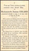 Jeanne Colard - Liège 1938, à Lâge De 20 Ans - Décès