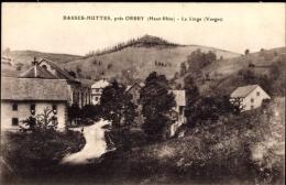 Cp Basses Huttes Orbey Haut Rhin, Le Linge, Blick Auf Den Ort, Berg - Altri Comuni