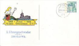 PP 100/71a  1968 21.Juni 1978 10 Jahre Unterseeboot U 11, Kiel - Privatpostkarten - Gebraucht