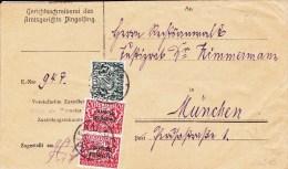 BAYERN - ENVELOPPE De SERVICE De DINGOLFING Pour MÜNCHEN - Deutschland