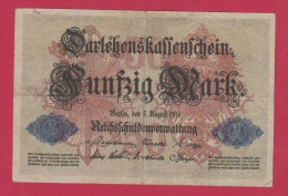 ALLEMAGNE  //  100 Mark  //  5 Aout 1914 - [ 2] 1871-1918 : German Empire