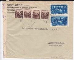 SLOVAQUIE - 1943 - ENVELOPPE Avec CENSURE De BRATISLAVA Pour FRANKFURT - Slovaquie