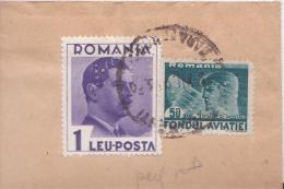 """ROUMANIE - 1936 - ENVELOPPE Avec TIMBRES PERFORES """"R.D"""" De BUCAREST Pour CRAIOVA - Marcofilia"""