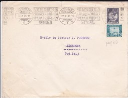 """ROUMANIE - 1931 - ENVELOPPE Avec TIMBRES PERFORES """"R.D"""" De BUCAREST Pour SEGARCEA - Marcofilia"""