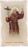 Santino NUOVO Fustellato SAN LEONARDO DA PORTO MAURIZIO - Ristampa Tipografica Da Santino Antico - PERFETTO G12 - Religión & Esoterismo