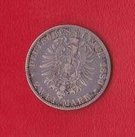 ZWEI MARK  DEUTSCHES REICH  1880  LUDWIG  II  KOENIG  V. BAYERN - Collections