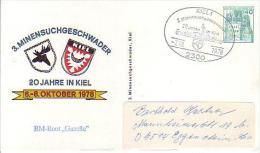 """PP 100/80 3. Minensuchgeschwader - 20 Jahre Kiel 6.-8.Oktober 1978 """"BM-Boot """"Gazelle"""" - Privatpostkarten - Gebraucht"""