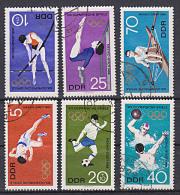 Olympische Sommrspiele Mexiko 1968 Gestempelt Kpl. Satz Stabhochsprung Fussball Rudern Turnen - Zomer 1968: Mexico-City