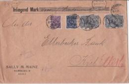 REICH - 1922 - ENVELOPPE CHARGEE De HAMBURG Pour KIEL - Covers & Documents