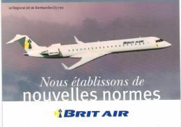 Thème - Avion -  Brit Air - Regional Jet De Bombardier CRJ 700 - Carte Grand Format