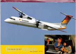Thème - Avion -   Tyrolean - Bombardier Aerospace - Q400 -  Carte Grand Format - 1946-....: Moderne
