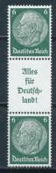 Deutsches Reich Zusammendruck S 142 * Ungebraucht Mi. 15,- - Zusammendrucke