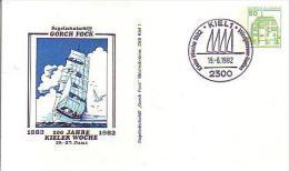 PP 104/157  100 Jahre Kieler Woche 1882-1982 - Segelschulschiff Groch Fock, Kiel - Privatpostkarten - Gebraucht