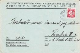 BOHEME ET MORAVIE -  ENVELOPPE De SERVICE De MELNICE - Lettres & Documents