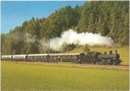 TRAIN Suisse - EISENBAHN Schweiz - Dampfzug Der SBB Mit Lokomotive B 3/4 1367 - Locomotive à Vapeur - Trains