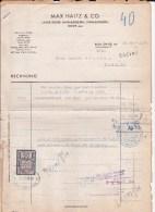 BOHEME ET MORAVIE - 1940 - FORMULAIRES Avec TIMBRE FISCAL + CACHET DE DOUANE (ZOLLAMT) - Lettres & Documents