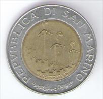 SAN MARINO 500 LIRE 1993 BIMETALLICA - San Marino
