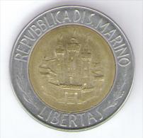 SAN MARINO 500 LIRE 1984 BIMETALLICA - San Marino