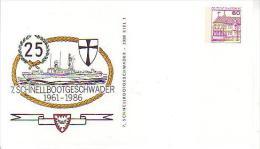 PP 106/221**  25 Jahre 1961-1986 - 7. Schnellbottgeschwader, Kiel - Privatpostkarten - Ungebraucht