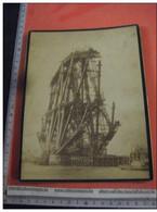 1889 :  2 Real Photo Cabinet Albumen - During Building The  FORTH  Giant Bridge, Viaduct - United Kingdom - Scotland - Eisenbahnen