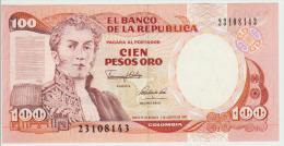 Colombia 100 Peso 1991 Pick 426A UNC - Colombia