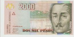 Colombia 2000 Peso 2005 Pick 457 UNC - Colombia