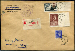 FRANCE - PETAIN - N ° 470 + 407 + 496 / LR DE BLAYE LE 26/3/1941 - TB - 1941-42 Pétain