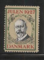 DENMARK 1927 CHRISTMAS EINAR HOLBOLL NO GUM ADVERTISING POSTER STAMP CINDERELLA REKLAMENMARKEN - Danemark