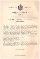 Original Patentschrift - Schramm In Gnaschwitz , Station Singwitz B. Doberschau , 1896 , Vacuum - Trockenapparat !!! - Historische Dokumente