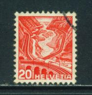 SWITZERLAND - 1936+  Landscapes  20c  Used As Scan - Oblitérés
