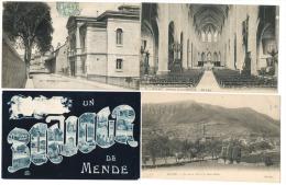 MENDE --LOT DE QUATRE CARTES POSTALES ANCIENNES Petit Prix - Mende