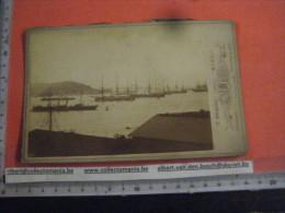 4 Real Photo  Cabinet Albumen, 1885 KIEL Germany  Deutschland - Schiffe Steamers - 10,5 CmX16,5cm  - BRAUNE Fleethorn 29 - Boats