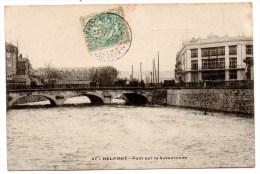 CP, 90, BELFORT, Pont Sur La Savoureuse, écrite, Voyagé En 1935 - Belfort – Siège De Belfort