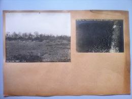 Guerre De 1914-1918 : Vue De La Batterie 3839 Le 11 Août 1918 Et Vue Aérienne D'un Char Français Et D'un Char Allemand - 1914-18