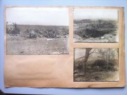 Guerre 1914-1918 : 3 Clichés De Batterie D'artillerie En Aout 1918 Et 2 Vues Aériennes De Chars Français Et Allemands - 1914-18
