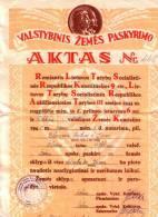 Sakiai.Valst Zemes Skyrimo Aktas Stribui - Lithuania