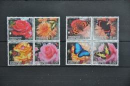 N 002 + TADZJIKISTAN 2013 + BUTTERFLIES FLOWERS PAPILLON FLEUR + MNH NEUF POSTFRIS - Tadzjikistan