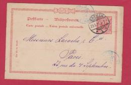 ALLEMAGNE  //  Entier Postal //  De Bremen   //  Pour Paris  //  29/5/1895 - Ganzsachen