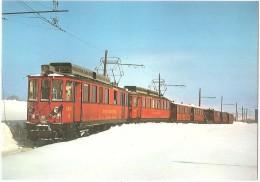 TRAIN Suisse - EISENBAHN Schweiz - ARZIER - Nyon - Saint-Cergue - Morez - Autorail Des Skieurs - Phot.J.P. Cerez,tramway - Gares - Avec Trains