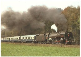 TRAIN Suisse - EISENBAHN Schweiz - BAUMA - Locomotive à Vapeur Française 141 R 1244 De L´Association MIKADO (1946) - Trains